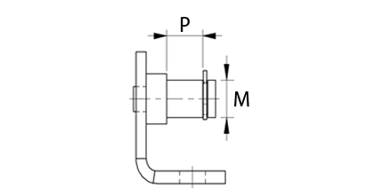 Technical drawing - Bracket with mandrel