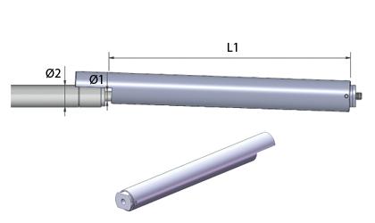 Tech Drawing - Locking tubes - Stainless steel