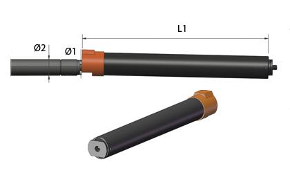 Tech Drawing - Locking tubes - Black steel
